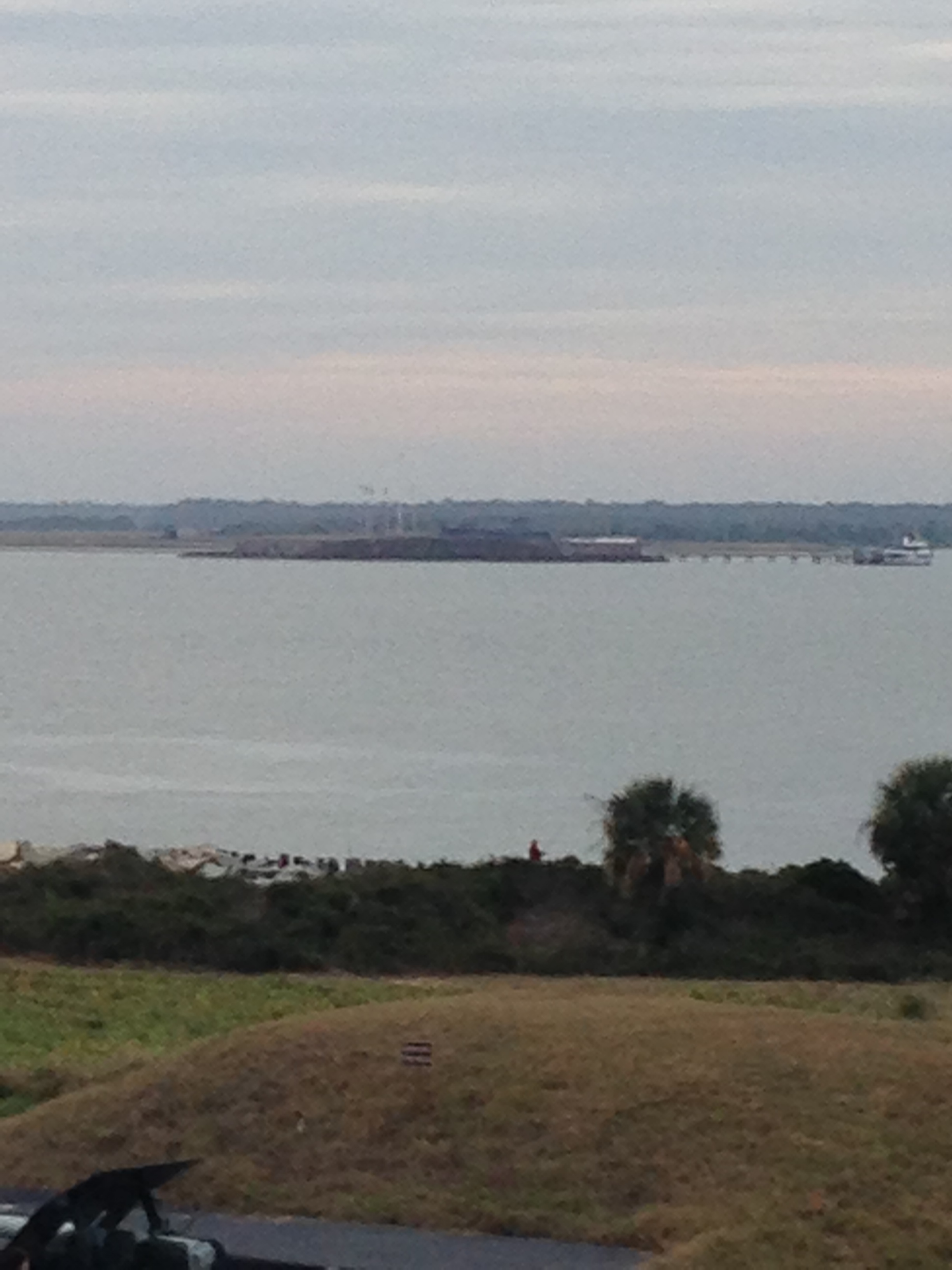 A little better shot of Fort Sumter.